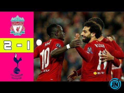 Liverpool vs Tottenham Hotspur 2-1 – All Highlights & Goals